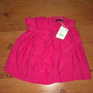 🛍NWT ZARA HIGH WAISTED WITH BELT TIE SHORTS